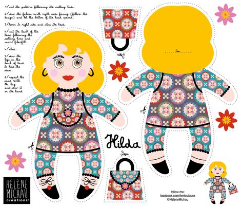 Hilda plushie fabric by cassiopee on Spoonflower - custom fabric