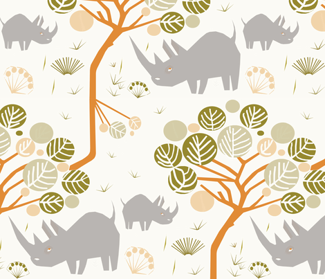 Grazing fabric by mirjamauno on Spoonflower - custom fabric