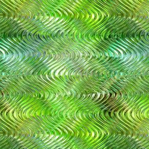 Glisten wave in winter green