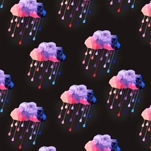 Purple Rain on Black