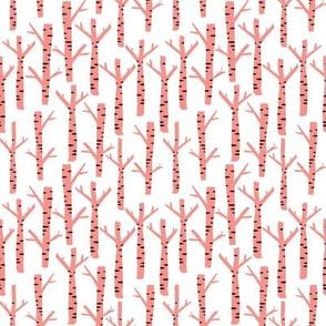 Birch tree pink