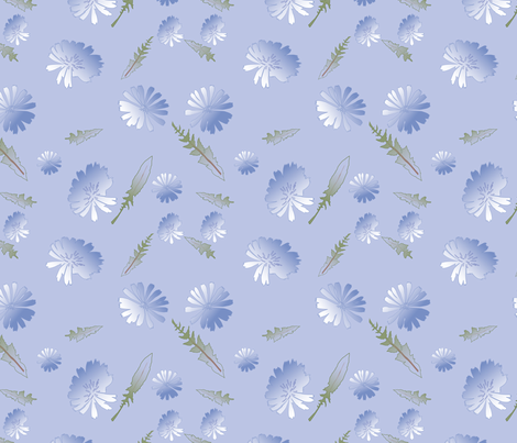 Chicory_Blush fabric by tbjwms on Spoonflower - custom fabric