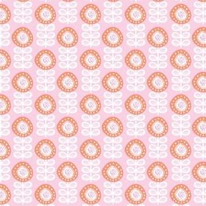Vintage pink pastel poppy flower scandinavian style floral pattern