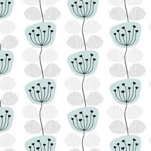 Vintage pastel poppy flower petal scandinavian style floral pattern