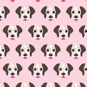 Spot the dog dalmatian pink puppy illustration girls pattern