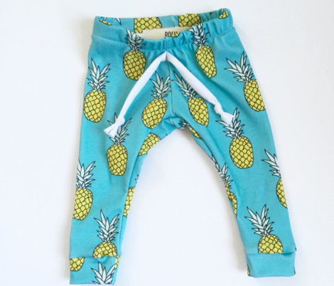 Hot summer pineapple ocean blue