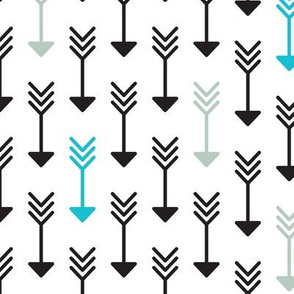 Indian arrow geometric pattern in pastel and black