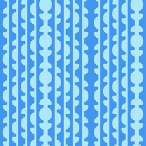 Topiary Stripe   -bfe6ff Blue and 6495ed Blue
