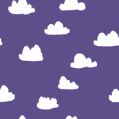 clouds // purple clouds design for sweet little girls room fabrics and textiles for sewing diy projects