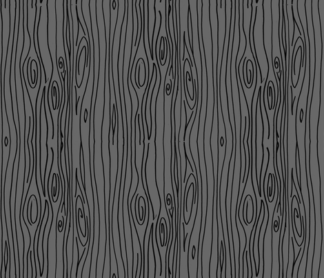 Wonky Woodgrain - Black on Dark Gray