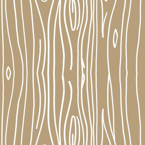 Wonky Woodgrain - Tan