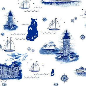 Beaver Island Toile China Blue