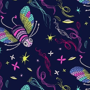 le jardin cosmique - coordinating bugs
