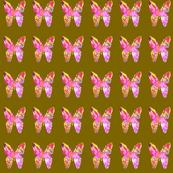 Mosaic butterfly'son moss