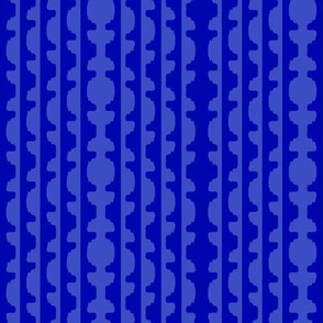 Topiary Stripe  -two tones of the same blue