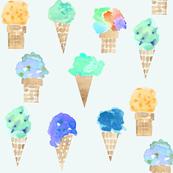 ice cream cone blue