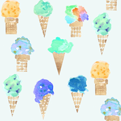 ice cream cone blue