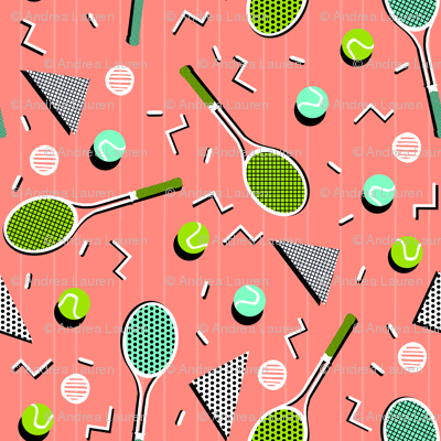 80s Tennis Lesson by Andrea Lauren