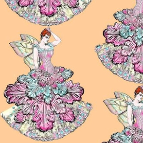 Pastel Victorian Fairy in Warm Peach