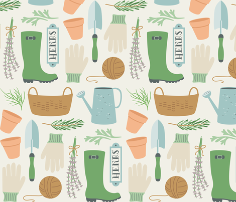 Garden Delights fabric by runningriverdesign on Spoonflower - custom fabric