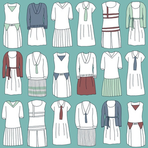 Dashing duds for twenties tennis