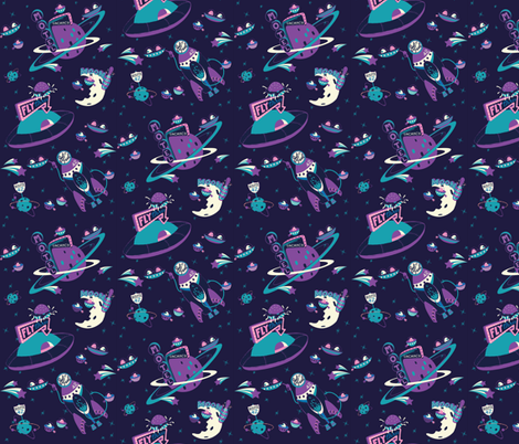 Cosmic voyage fabric rachelmense spoonflower for Cosmic print fabric