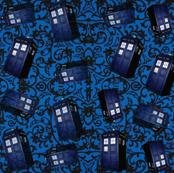 Blue Tardis Swirl