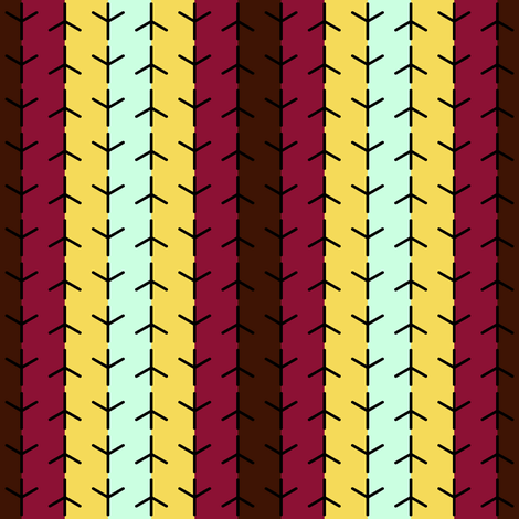 birds foot stripe fabric by sef on Spoonflower - custom fabric