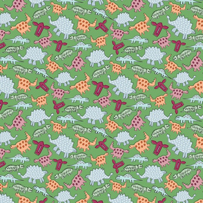 Dinosaurs on Green