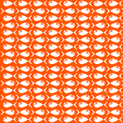 Fish Chase  Color: Mod Orange White