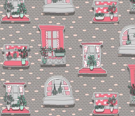 Window Herb Gardeners fabric by emilywhittaker on Spoonflower - custom fabric