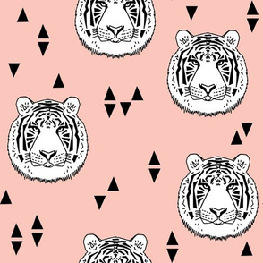 Tiger - White/Pale Pink by Andrea Lauren