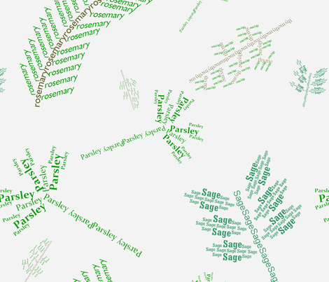 Pasrsley, Sage, Rosemary And Thyme fabric by apn201 on Spoonflower - custom fabric