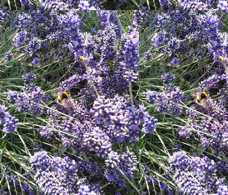 Lavender_bee fabric by anniegreen on Spoonflower - custom fabric