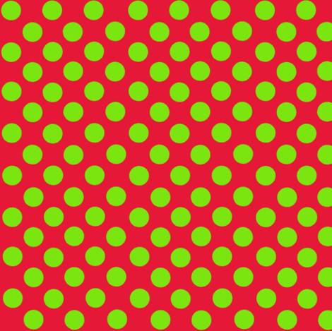 Lime/Red Polka Dots Christmas Santa Grinch colors