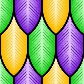 feathers - mardi gras
