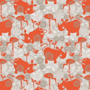 happy orange rhinos