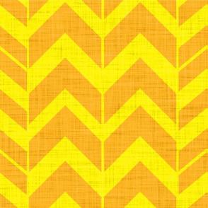 Rough Chevron-Tangerine