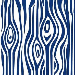 CUSTOM-Mod Grain - Navy & White stripe