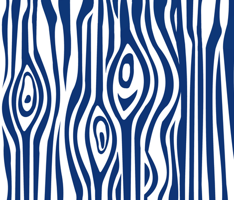 CUSTOM-Mod Grain - Navy & White stripe fabric by thirdhalfstudios on Spoonflower - custom fabric