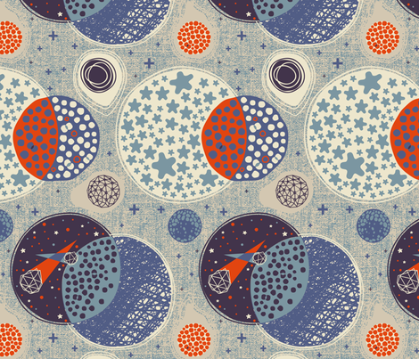 Outer Space fabric by meliszawang on Spoonflower - custom fabric