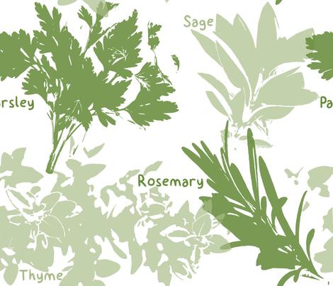 Fresh Herbs fabric by studiooutlook on Spoonflower - custom fabric