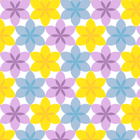 circle 6 arc flower x3