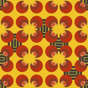 Asian Deco Luxury in Marigold and Charcoal