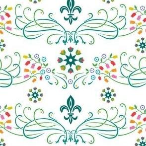 lilies  nouveau white