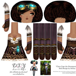 Cut and Sew Doll Pattern Steampunk Princess