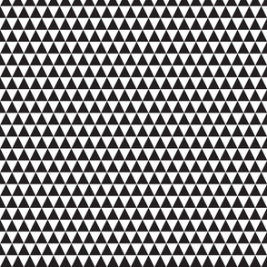 Monochrome Triangle Geometric Black and White