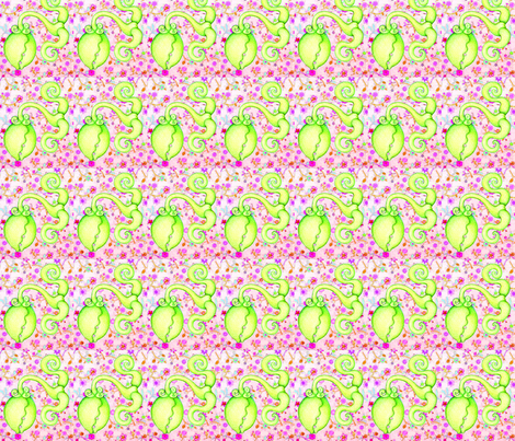 Maneater on Flowers fabric by studiosarcelle on Spoonflower - custom fabric