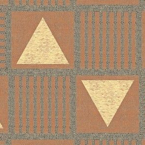 Pyramids- red clay and taupe/grey