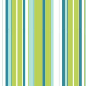 stripy green and teal